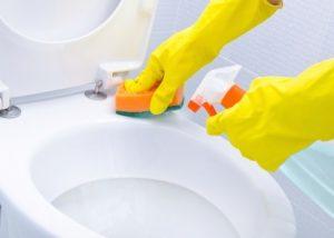 Cách tẩy trắng vết ố vàng nhà vệ sinh