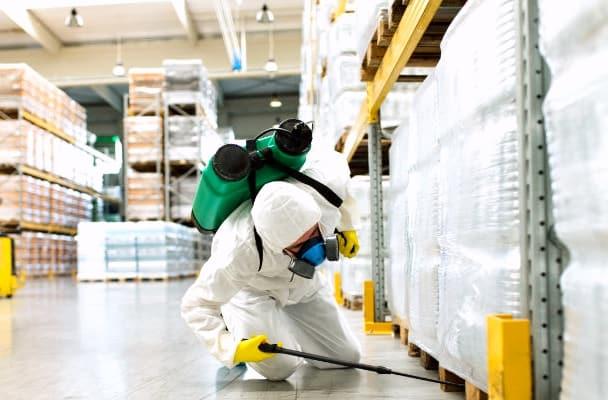 Xí nghiệp tiến hành phun thuốc khử trùng diệt khuẩn