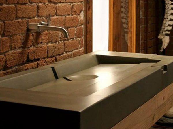 Kiểu dáng bồn rửa mặt bê tông cốt thuỷ tinh
